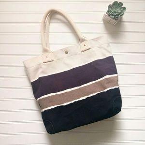 J. Crew 100% Cotton Canvas Tote Bag